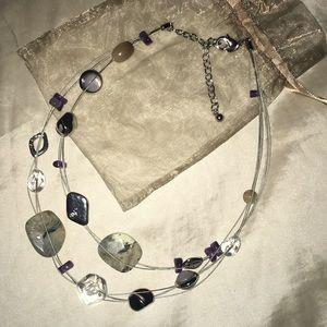 Stunning Multi-strand  Illusion Necklace